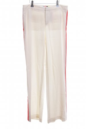 MSGM Palazzo Pants natural white-red casual look