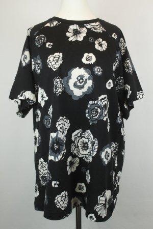 MSGM Shirt T-Shirt Gr. L schwarz weiß Blumen