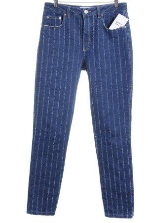 MSGM Skinny Jeans blau Streifenmuster Street-Fashion-Look