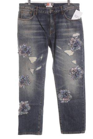 MSGM Slim Jeans blau-grauviolett Casual-Look