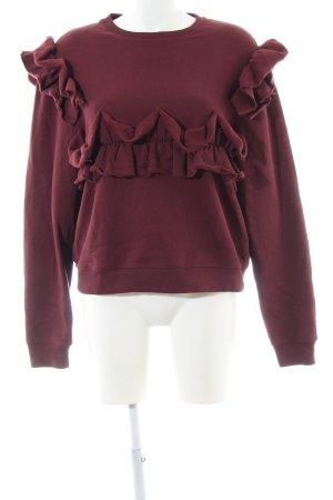 MSGM Sweatshirt bordeauxrot schlichter Stil