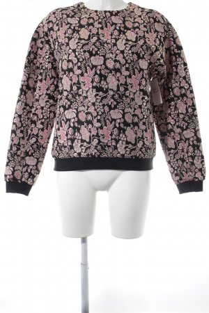 MSGM Sweatshirt florales Muster Glanz-Optik