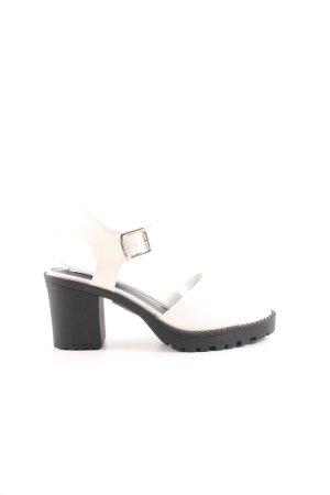 mtng Originals Riemchen-Sandaletten weiß-schwarz schlichter Stil