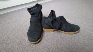 MTNG suede with textile black ankle boots, size 37