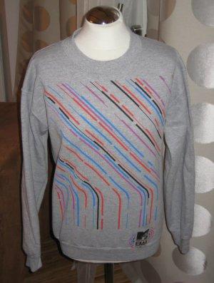 MTV AWARDS EMAs 2010: Damen-Sweatshirt in Grau mit bunten Druck in Gr. S