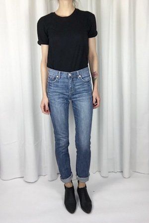 Mtwtfss Weekday Vintage Blue 70's Slim Fit Jeans Rock 'n' Roll Skinny High Waist Cosy Blogger Trend W27