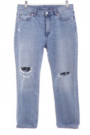 MTWTFSSWEEKDAY Boyfriend jeans azuur-korenblauw Katoen
