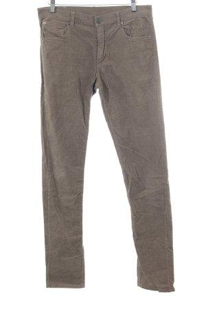 MTWTFSSWEEKDAY Pantalon en velours côtelé kaki style décontracté