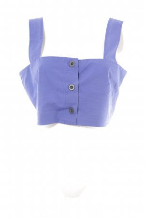 MTWTFSSWEEKDAY Cropped Top blau 50ies-Stil