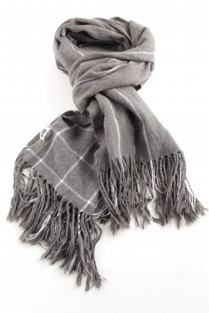 MTWTFSSWEEKDAY Fringed Scarf light grey-white check pattern casual look