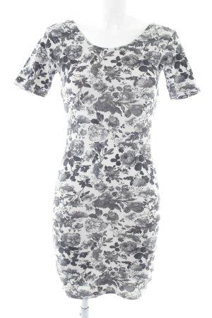 MTWTFSSWEEKDAY Jerseykleid weiß-hellgrau Allover-Druck Casual-Look