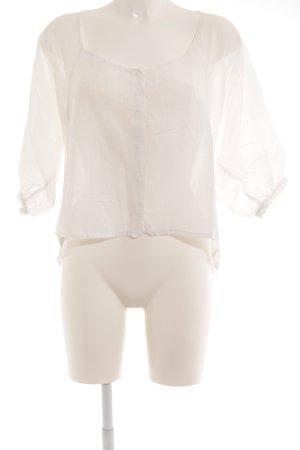 MTWTFSSWEEKDAY Kurzarm-Bluse weiß Casual-Look