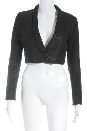 MTWTFSSWEEKDAY Leren blazer zwart minimalistische stijl