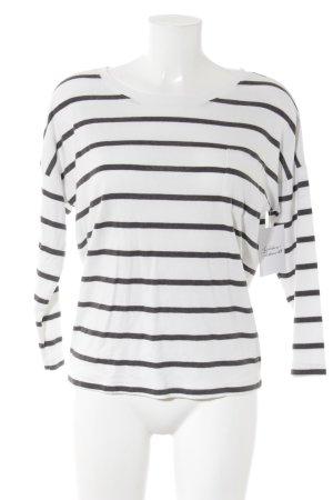 MTWTFSSWEEKDAY Longsleeve schwarz-weiß Streifenmuster Casual-Look