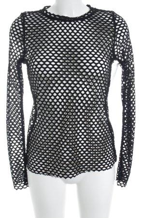 MTWTFSSWEEKDAY Netzshirt schwarz extravaganter Stil