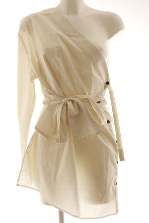 MTWTFSSWEEKDAY One-Shoulder-Shirt wollweiß extravaganter Stil
