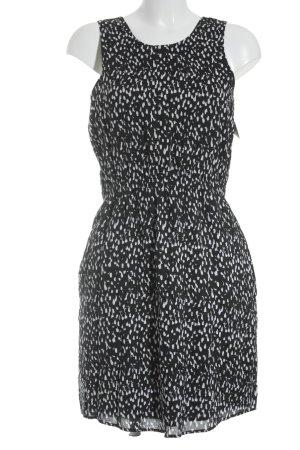 MTWTFSSWEEKDAY schulterfreies Kleid schwarz-weiß Farbtupfermuster Business-Look