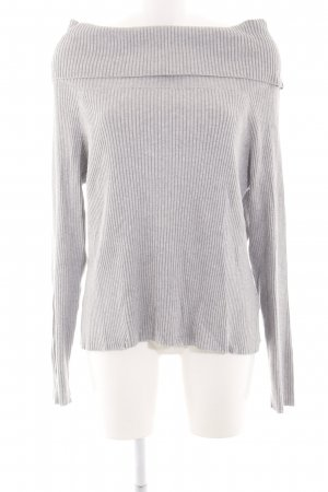 MTWTFSSWEEKDAY Strickpullover hellgrau Zopfmuster Casual-Look
