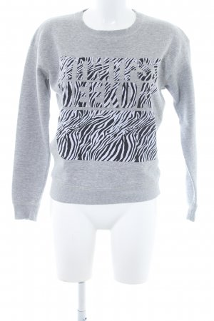 MTWTFSSWEEKDAY Sweatshirt platzierter Druck Animal-Look
