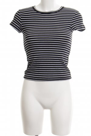 MTWTFSSWEEKDAY T-Shirt schwarz-weiß Streifenmuster Casual-Look