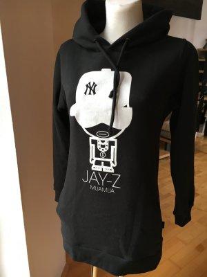 Muamua Dolls langer Kapuzen-Hoodie Jay-Z schwarz Sweater