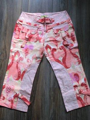Capribroek stoffig roze-rood