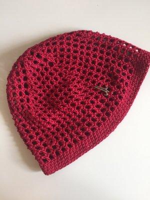 Mühlbauer Crochet Cap carmine