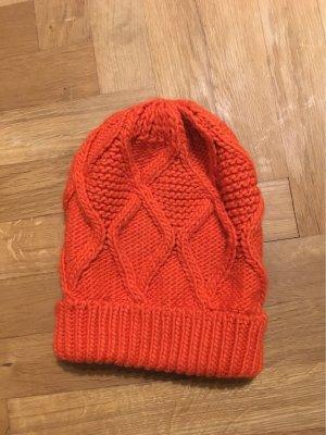 Street One Chapeau en tricot rouge clair