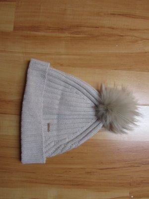 Woolrich Gebreide Muts licht beige Wol