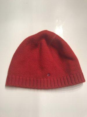 Tommy Hilfiger Sombrero de punto rojo-rojo oscuro