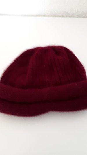 Cappello a maglia bordeaux