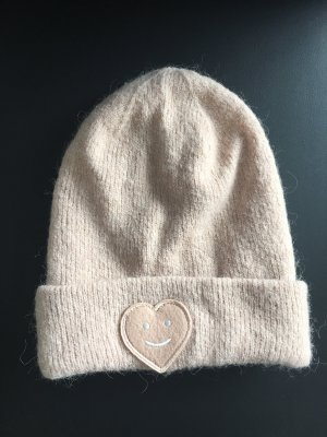 Opus Knitted Hat pink-dusky pink