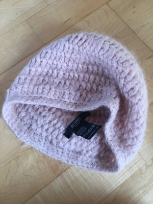 Hallhuber Chapeau en tricot vieux rose