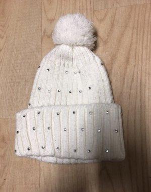 Cappello in tessuto bianco