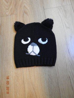 Cappello a maglia nero Lana