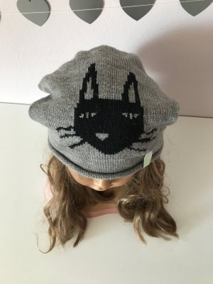 Chapeau en tissu gris-noir