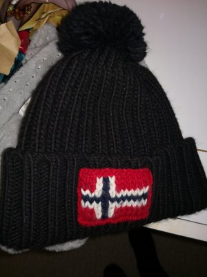 Nialaya Chapeau en tricot noir