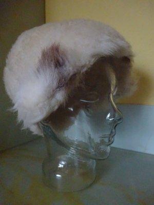 Sombrero de piel blanco-marrón