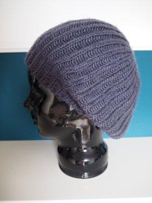 Madonna Chapeau en tricot gris ardoise acrylique