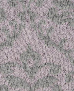 Fraas Beanie stoffig roze-grijs Gemengd weefsel