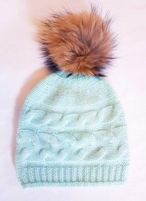Chapeau en tricot multicolore cachemire