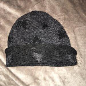 Cappello in tessuto nero-grigio