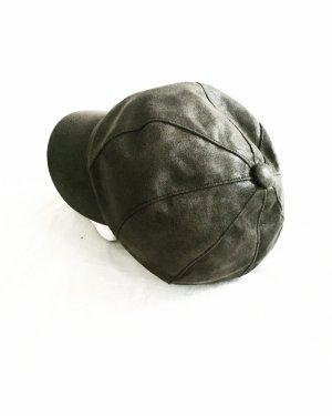 Vintage Cappello verde scuro-grigio-verde