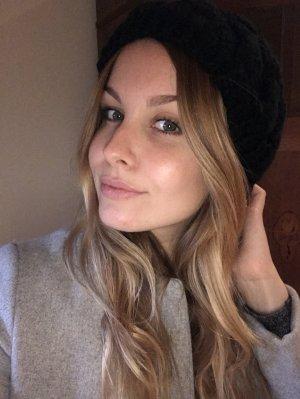 Mütze Castro schwarz Wolle