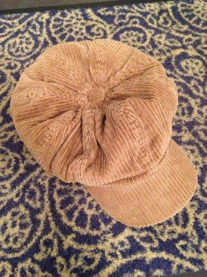 Mütze Cord hellbraun