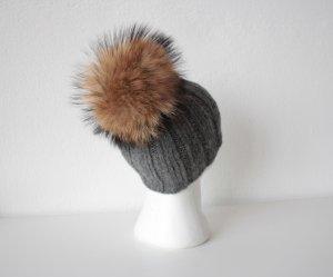 Chapeau en tricot multicolore laine mérinos