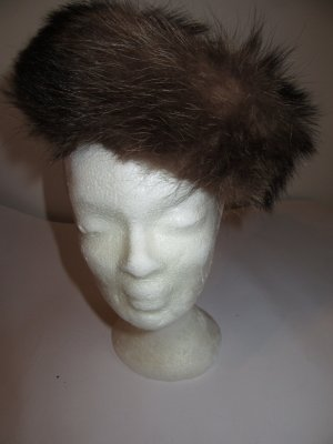 Vintage Fur Hat brown
