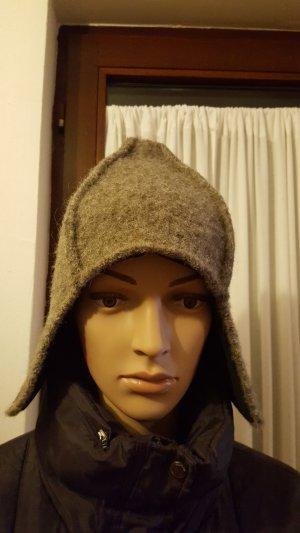 Lapland Hat grey brown-dark grey wool