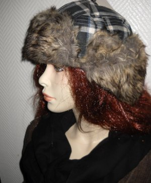 Fur Hat multicolored polyester