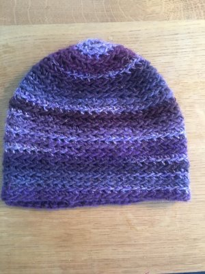 Bonnet en crochet multicolore